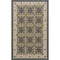 Indoor/ Outdoor South Beach Grey Garden Rug (5' x 8')