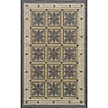Indoor/ Outdoor South Beach Grey Garden Rug (8' x 10')