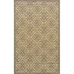 Indoor/ Outdoor South Beach Taupe Diamonds Rug (5' x 8')