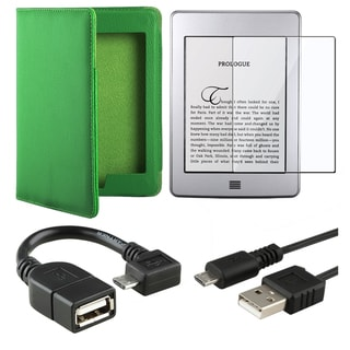 Leather Case/ LCD Protector/ Cable/ Adapter for Amazon Kindle Touch
