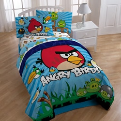 Angry Birds 'Burst' Twin-size 4-piece Bed in a Bag with Sheet Set