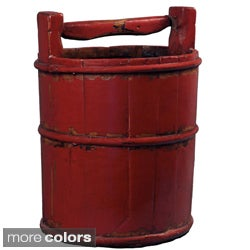 Vintage Chinese Wooden Water Bucket