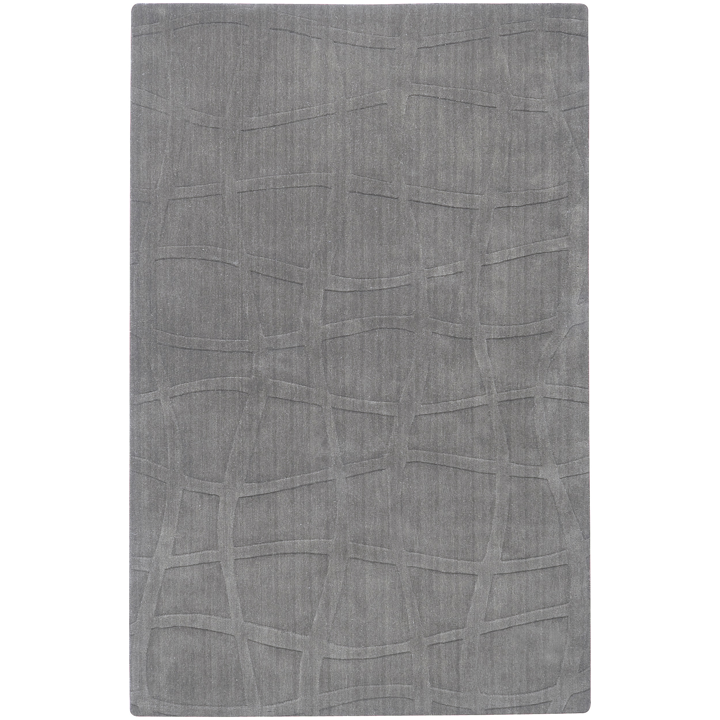 Candice Olson Loomed Gray Ichoa Abstract Plush Wool Rug (8' x 11')