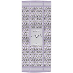 Haurex Women's Italy Lavendar Crystal Watch