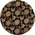 Hand-tufted Black Cotag Wool Rug (8' Round)