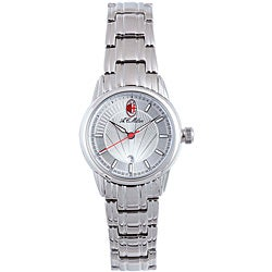 Chronotech Women's Stainless Steel Sun-ray Dial Watch