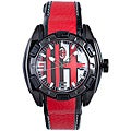 Chronotech Kids' Plastic Red and Black Water-resistant Quartz Watch