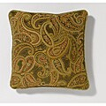 Corona Decor Paisley Pattern 18-inch Decorative Pillow