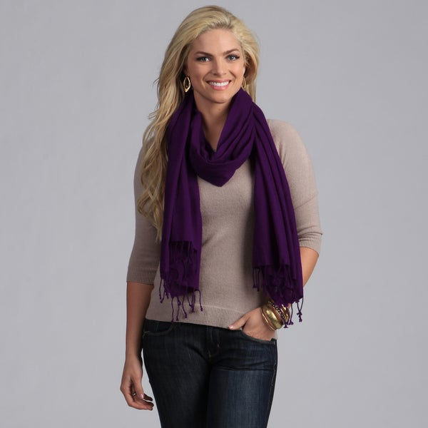 Peach Courture Purple Wool Shawl