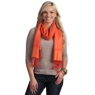 Women's Orange and Yellow Shawl Wrap