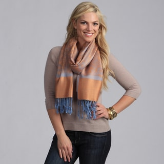 Women's Orange and Blue Shawl Wrap