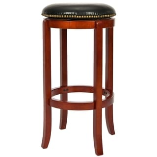 Safavieh Ulster Light Cherry Finish 24-inch Swivel Counter Stool