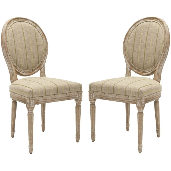 Safavieh French Royale Oval Antiqued Taupe Side Chairs (Set of 2)
