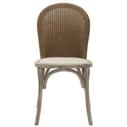Safavieh La Rochelle Antiqued Oak Finish Taupe Side Chair (Set of 2)
