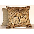 Paddock Shawl Spa 16-inch Square Paisley Decorative Pillows (Set of 2)