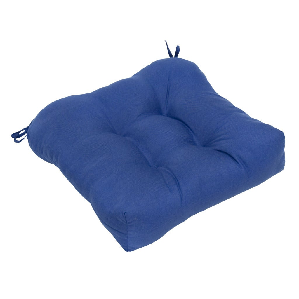 20-inch Outdoor Marine Blue Chair Cushion - 14159104 - Overstock.com ...