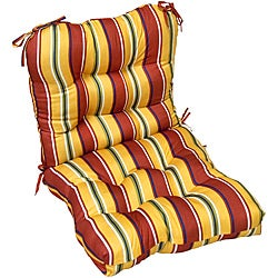 Outdoor 'Mayan Stripe' Seat/ Back Chair Cushion