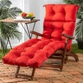 Red 72-inch Outdoor Chaise Lounger Cushion