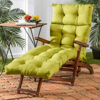 Lime 72-inch Outdoor Chaise Lounger Cushion