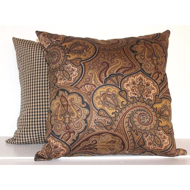 Paddock Shawl Onyx Decorative Pillows (Set of 2)