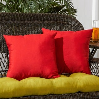 Red Outdoor Accent Pillows (Set of Two)