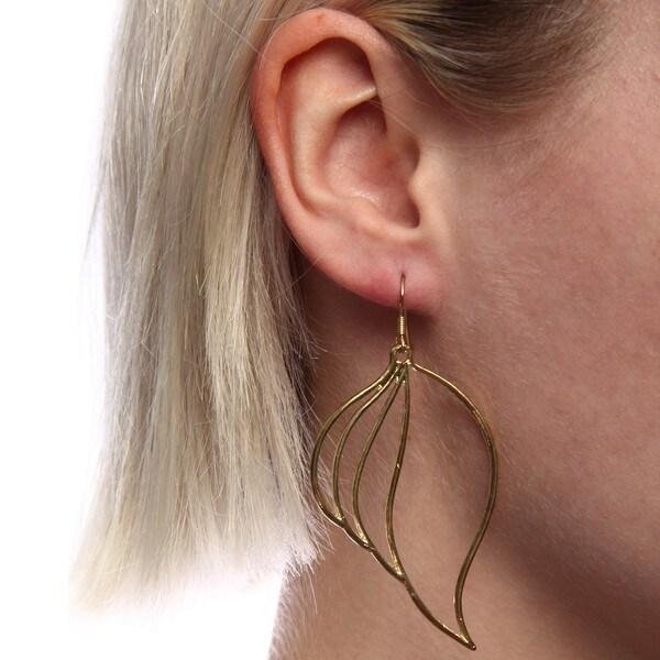 Marlyn Schiff Leaf Shaped Earrings