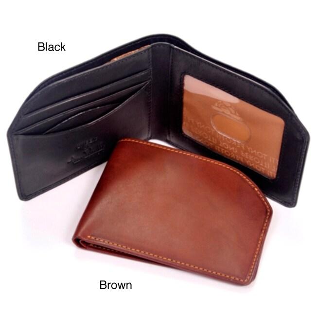 Tony Perotti Leather Bi-Fold Front Pocket Wallet