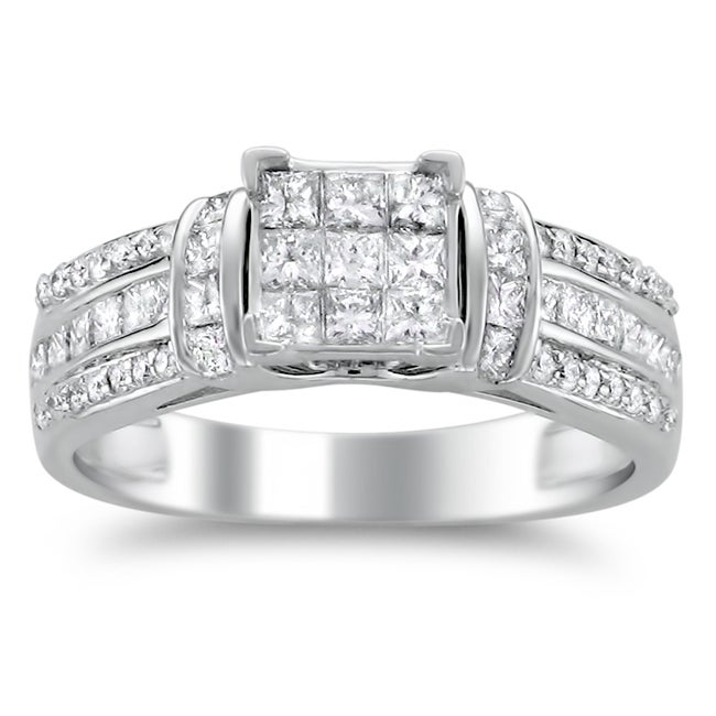 Montebello 14k White Gold 1ct TDW Diamond Composite Engagement Ring (H-I, I2)