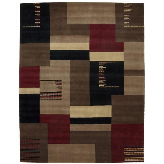 Nourison Hand-tufted Dimensions Taupe Rug (7'6 x 9'6)