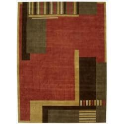 Nourison Hand Tufted Dimensions Rust Rug ( 7'6 x 9'6 )