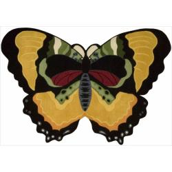 Nourison Hand-tufted Yellow Butterfly Wool Rug (4' x 6')