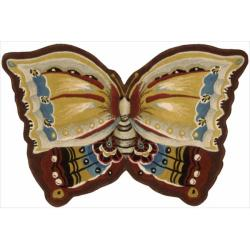 Nourison Hand-tufted Multi Butterfly Wool Rug (4' x 6')