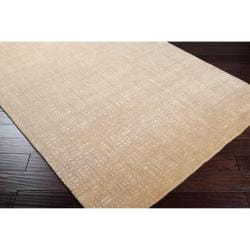 Julie Cohn Hand-knotted Tan Porsuck Abstract Design Wool Rug (4' x 6')