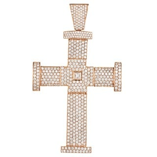 14k Gold 14 1/5ct TDW Diamond Jacob & Co. Cross Estate Pendant (F-G, VS1-VS2)