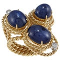 Aletto Brothers 18k Gold Sapphire and 1/3ct TDW Diamond Estate Ring (H-I, SI1-SI2)