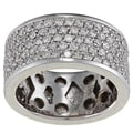14k White Gold 4ct TDW Diamond Eternity Estate Band (G-H, SI1-SI2)