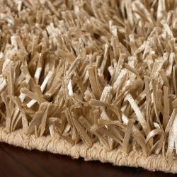 Hand-woven Beige Payas Soft Plush Shag Rug (3'6 x 5'6)