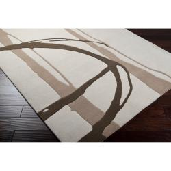Noah Packard Hand-tufted Ivory Contemporary Pactu New Zealand Wool Abstract Rug (3'3 x 5'3)