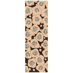 Smithsonian Hand-tufted Beige Konya Medallion Wool Rug (9' x 13')