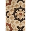 Smithsonian Hand-tufted Beige Konya Medallion Wool Rug (5' x 8')
