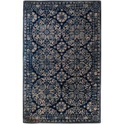 Smithsonian Hand-tufted Blue Trabzon Oriental Pattern WoolRug (3'3 x 5'3)