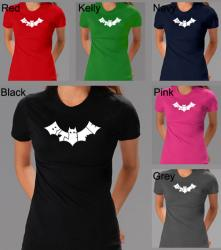 Los Angeles Pop Art Women's 'Bite Me' Bat Cotton T-shirt