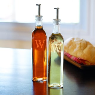 Custom Engraved Oil & Vinegar Cruet Bottles