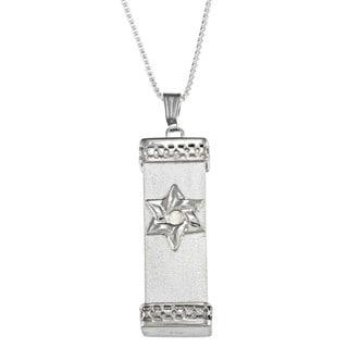 Sterling Silver Men's 'Mezuzah' Necklace