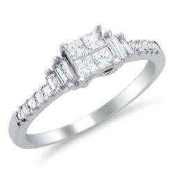 14k White Gold 5/8ct TDW Diamond Composite Engagement Ring (H-I, I1-I2)