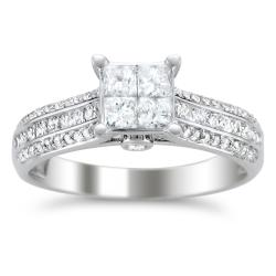14k White Gold 1ct TDW Diamond Composite Engagement Ring (H-I, I1-I2)