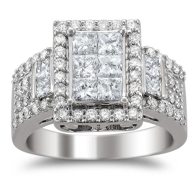 14k White Gold 2ct TDW Diamond Composite Engagement Ring (H-I, I1-I2)
