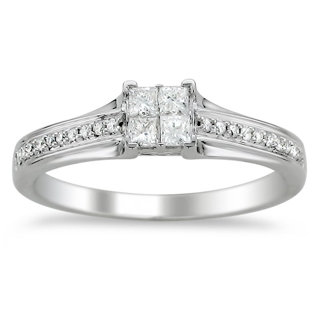 14k White Gold 1/3ct TDW Diamond Composite Engagement Ring (H-I, I1-I2)