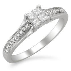 Montebello 14k White Gold 1/3ct TDW Diamond Composite Engagement Ring (H-I, I1-I2)