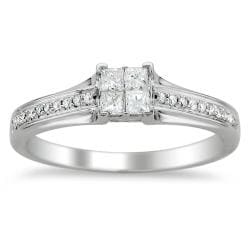 14k White Gold 1/3ct TDW Diamond Composite Engagement Ring (H-I, I1-I2)